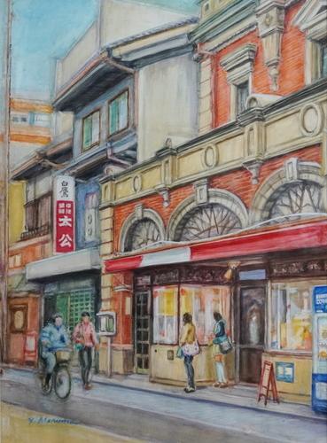 京都三条通トトロなどの店先 丸目 安忠